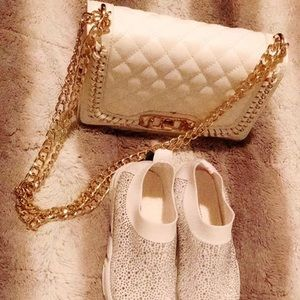 White Guess? clutch brand new